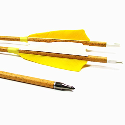 Archery Carbon Arrows,MS Jumpper Wood Grain[Carbon Fiber Shaft] Arrow Spine 600 For Hunting/Targeting Fletching 4