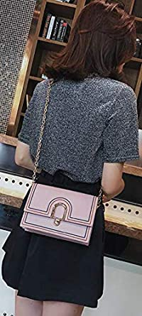 Purtou Single shoulder messenger bag fashion sewing thread simple chain small square bag