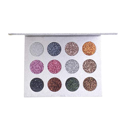 12 Color Eyeshadow Tray, NEEKEY Fashion Shimmer Gold Matte Nude Makeup Eye Shadow Palette -