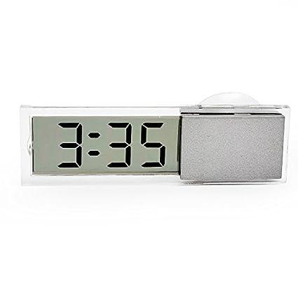 Reloj electrónico con ventosa para coche con pantalla LCD digital