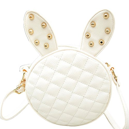 Fashion Crossbody White Bag Shoulder Rivets Bigood Mini B Diamond Women Handbag 5FnXAqS
