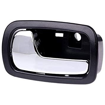 Cciyu Door Handle Chrome Interior Front Left Side Replacement Fit For 2005 2010 Chevrolet Cobalt 2007 2010 Pontiac G5 Black 22722755