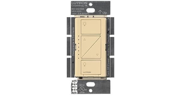 Lutron Caseta - Regulador de intensidad inalámbrico para pared: Amazon.es: Bricolaje y herramientas