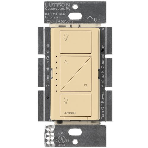 Lutron Caseta Wireless Smart Lighting Dimmer Switch for Wall & Ceiling Lights, PD-6WCL-IV, Ivory, Works with Alexa, Apple HomeKit, and the Google (Ivory In Wall Switch)
