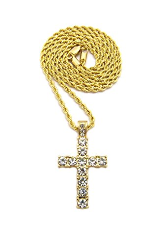 Iced Out Micro Cross Pendant 20