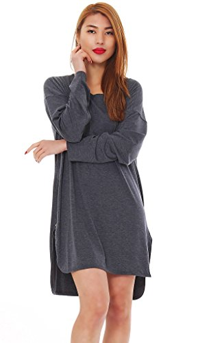 Japan Style von Mississhop Lange Tunika Bluse Pulli Longshirt ...