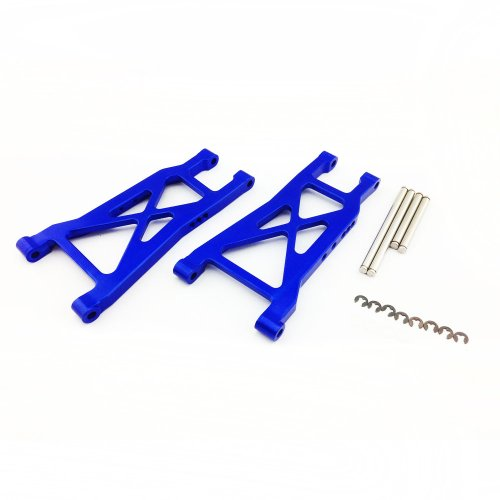 Atomik RC Alloy Rear Lower Arm, Blue fits the Traxxas 1/10 Slash and Other Traxxas Models - Replaces Traxxas Part 2555
