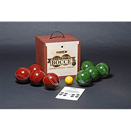 Image of Tournament Bocce Set in Pine Box Bocce