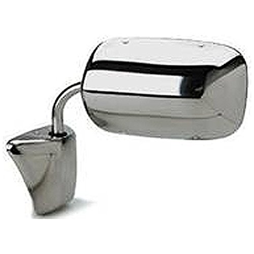 Left Driver Side Mirror Chrome Non-Heated Folding Door Chevy Blazer Pickup Suburban GMC C/K/R/V (1973 1974 1975 1976 1977 1978 1979 1980 1981 1982 1983 1984 1985 1986 1987 1988 1989 1990 1991)