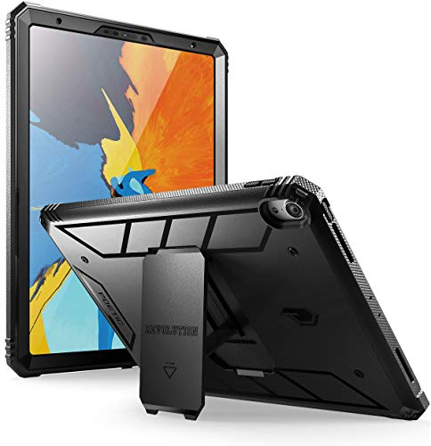 (Poetic iPad Pro 11 inch Rugged Case, Revolution [Built-in-Screen Protector][Kick-Stand][Not Supported Apple Pencil Magnetic Attachment] Full-Body Heavy Duty Case for Apple iPad Pro 11 (2018) - Black)