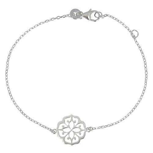 Les Poulettes Jewels - Bracelet Lotus Blossom Sterling Silver by Les Poulettes Jewels