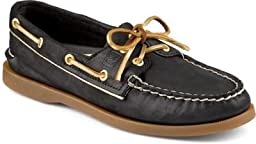 Sperry Top-Sider Women\'s Black/Gold A/O Metallic Piping 6.5 B(M) US