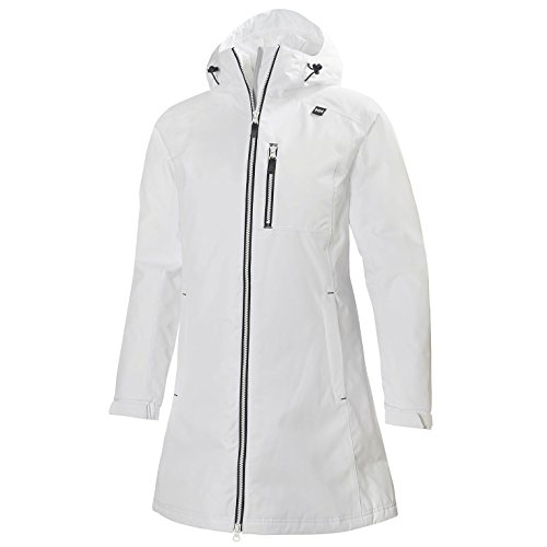 Helly Hansen Women's Long Belfast Insulated Winter Jacket, White, 3X-Large