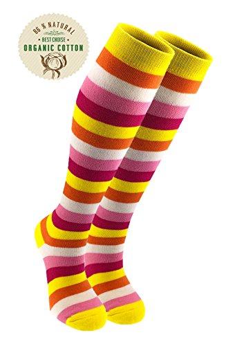 MO-KO-KO - Knee-High Socks - (Size 6-9) - Funny, Colourful,