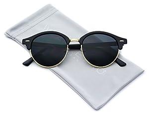 WearMe Pro - Round Retro Semi Rimless Retro Sunglasses