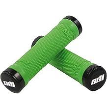 Odi MTB Lock-On Ruffian Grips with Bonus Pack, 130mm, Green by Odi