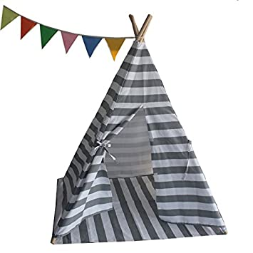 Small boy Kids Canvas Teepee Play Tent Indian Playhouse Striping  sc 1 st  Amazon.com & Amazon.com: Small boy Kids Canvas Teepee Play Tent Indian ...