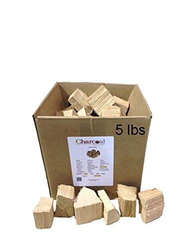 (CharcoalStore Red Oak Wood Smoking Chunks - No Bark (5 Pounds))