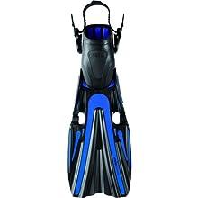 Mares Volo Power Open Heel Fins (X-Large, Blue)