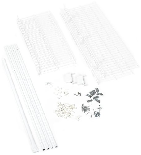 (Rubbermaid FastTrack FreeSlide Expandable Closet Organizer, 5 to 8 foot, White (3D1100WHT))