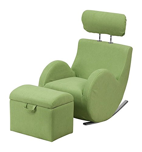 NEW gliding rocking chair Series Green Fabric Rocking - Unfinished Child Rocking Chair