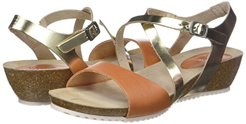 Brown Tbs Sandals Stefany G46 Toe Open Women's sienne Champagne 7Hr17X