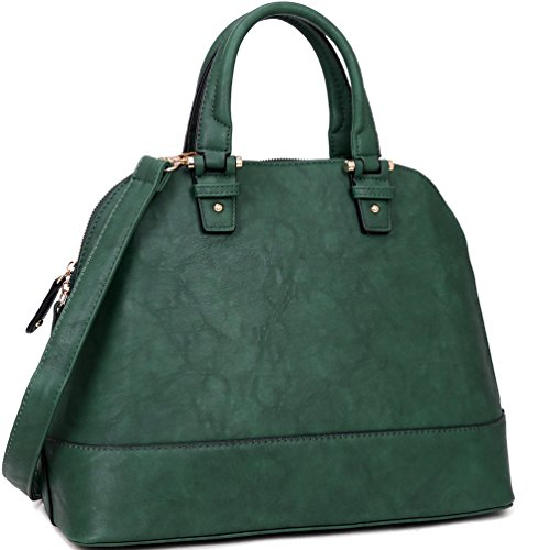 Large Dome Satchel Shell Shape Bag Top Handle Purse Shoulder Handbag c5fd373d182d3