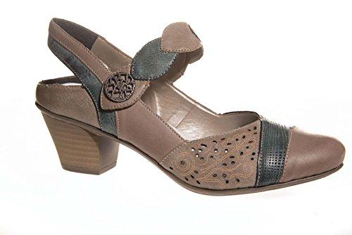 Rieker - Zapatos de Talón Abierto Mujer marrón