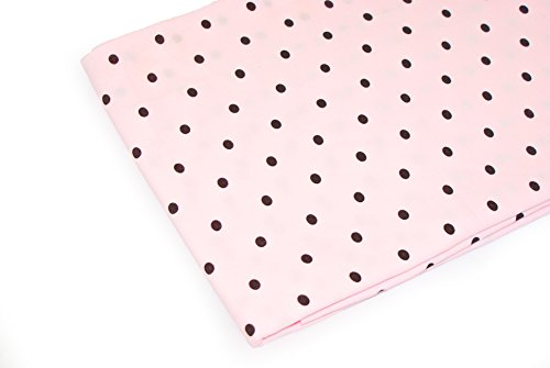 Pink Cotton Dot Jersey (Vinlea Jersey fabric patterned, 39in. x 59in., 92% cotton, 8% spandex, Pattern: Dots on pink)