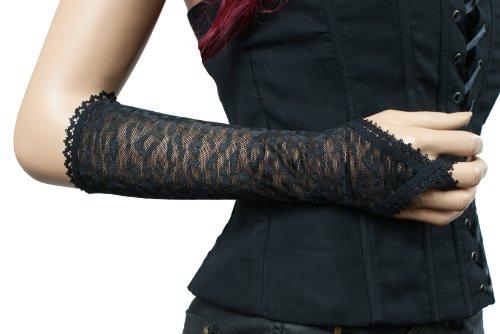 Gants Gothique, Gothic Romantic fingerless gloves, longueur 32 cm