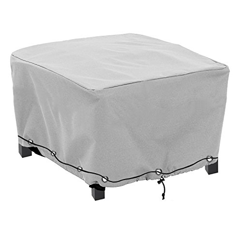 Patio Furniture Covers Gray: Konln Patio Ottoman/Side Table Cover Rectangular Premium