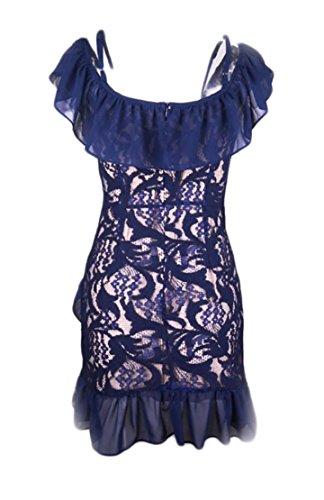 Breve Crochet Irregolare Vestiti Donne Del Orlo Merletto Manicotto 1 Bodycon Sexy Jaycargogo 0ZSw5qw
