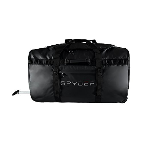 Spyder Men's Rolling Tech Duffle Bag, Black/Black, One Size by Spyder