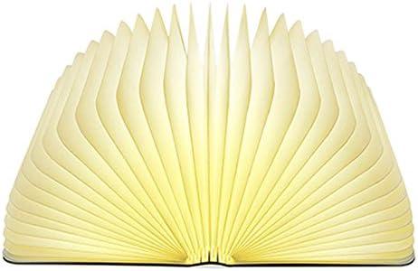 Lampada Libro Grande Usb Ricaricabile, Luce LED di legno Pieghevole Luci Booklight Decorative Lampada da Tavolo,2500mAH,4.5W,500 Lumens Maggiore Luminosità