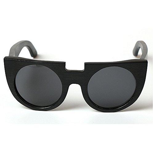 protection rétro conduite soleil lunettes main unisexe P en soleil UV yeux Style de Personnalité bambou la cadre chat femmes à de plage soleil de lunettes soleil de lunettes lunettes élégant Polarized dwq7BHx1