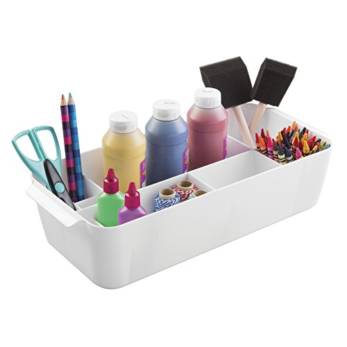 mDesign Supplies Crafts Crayons Organizer