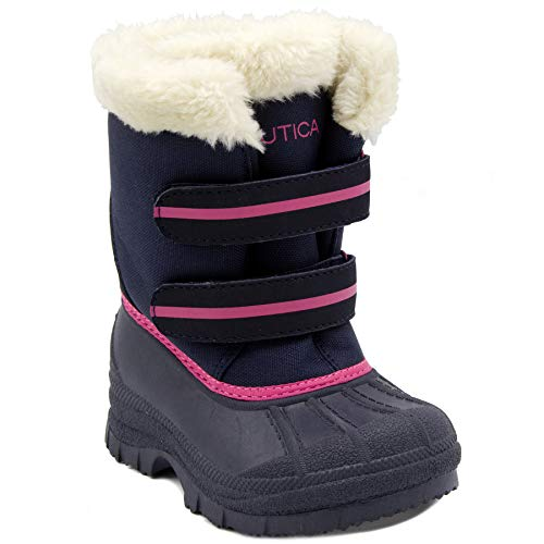 (Nautica Girl's Beasley All-Weather Snow Boot 9 M US Toddler Blue/Pink )