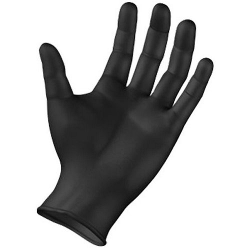 SemperForce Black Nitrile Disposable Gloves Powder Free Textured Fingertips 4 Mil Thickness Latex Free Medical Examination Glove (Extra Large Case (1000 Gloves))