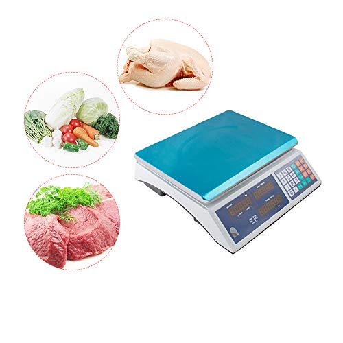 Digital Food Meat Produce Weight Computing Scale,Digital Weight Scale 60LB 30KG Price Computing Food Meat Scale Produce Deli Indutrial Electrical Computing Retail Counting Equipment For Kitchen Stores