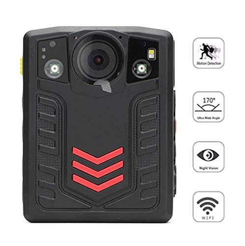 Body Worn Camera 1296P 2.0 inch Full HD Display 170° Wide Angle Motion Detection Infrared Night Vision Function IP67 Waterproof