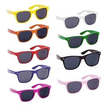 Lote de 100 Gafas de Sol de Colores con Protección UV400 PERSONALIZADAS con  LOGO o TEXTO e1cfb0f04cbf