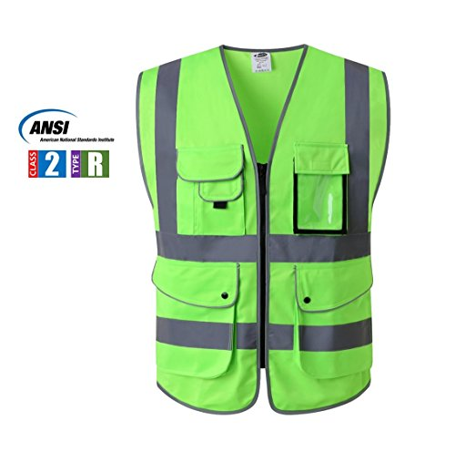 Neon Green Safety Vest - 8