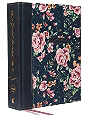 NKJV, Journal the Word Bible, Cloth over Board, Gray Floral, Red Letter, Comfort Print: Reflect, Journal, or Create Art Next to Your Favorite Verses