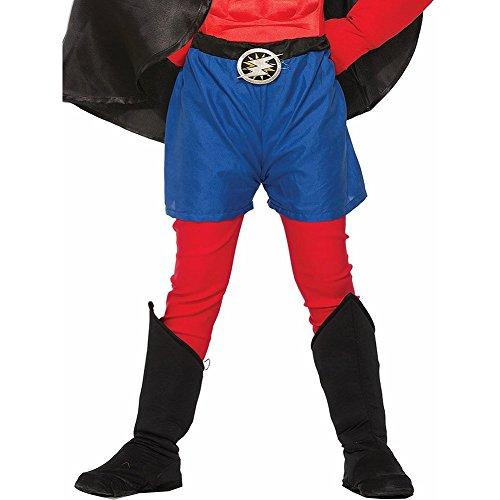 [Forum Novelties Child Hero Boot Covers, Black] (Supergirl Black Costumes)