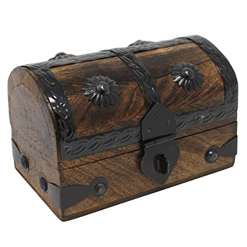 Nautical Cove Treasure Chest Keepsake and Jewelry Box Wood - Toy Treasure Box -