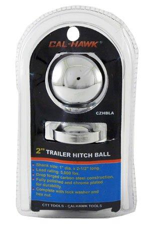 Cal Hawk Tools CZHBLA Trailer Hitch Ball, 2'' X 1''