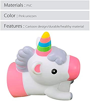 PLAFUETO Pink Unicorn Faucet Extender Sink Spout Cover Bath Toys Bath Spout Cover for Baby Bath Sink Faucet Bathtub Faucet Extender Protector Child Kitchen Accessories Suit for 35 mm to 45 mm Caliber