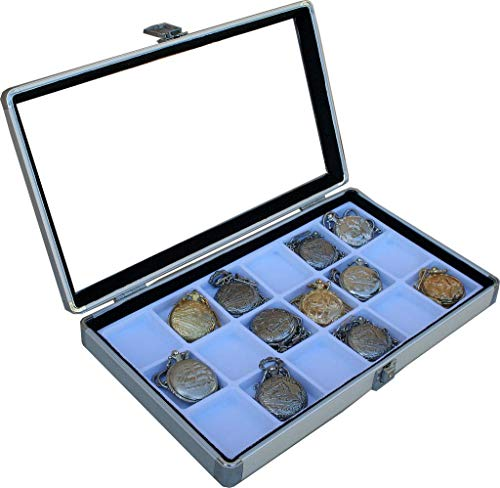 18 Pocket Watch Show Case Display Antique Jewelry Supply Box Pocket Watches