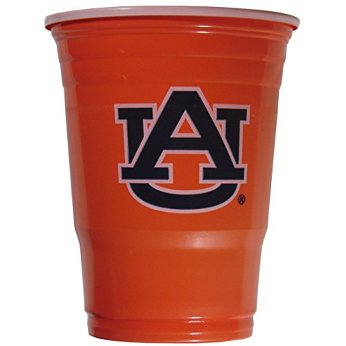 Auburn Tigers Cups - NCAA Plastic Game Day Cups, Auburn Tigers,18-Ounce, Sleeve of 18 cups