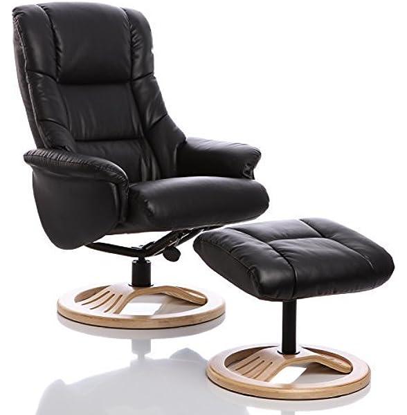 Sillón The Mandalay - silla giratoria reclinable de cuero y ...